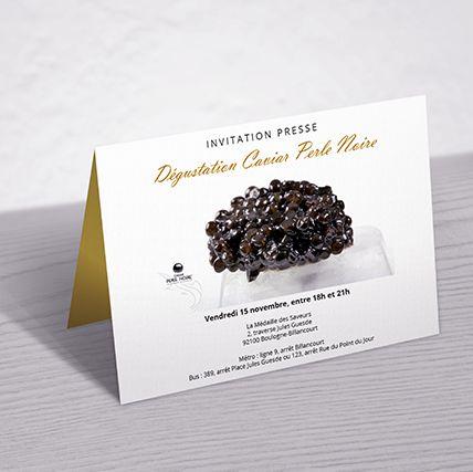 Invitation Presse Caviar Perle Noire