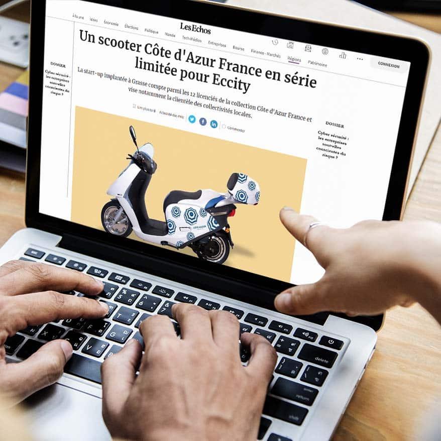 Retombées médias - eccity motocycles