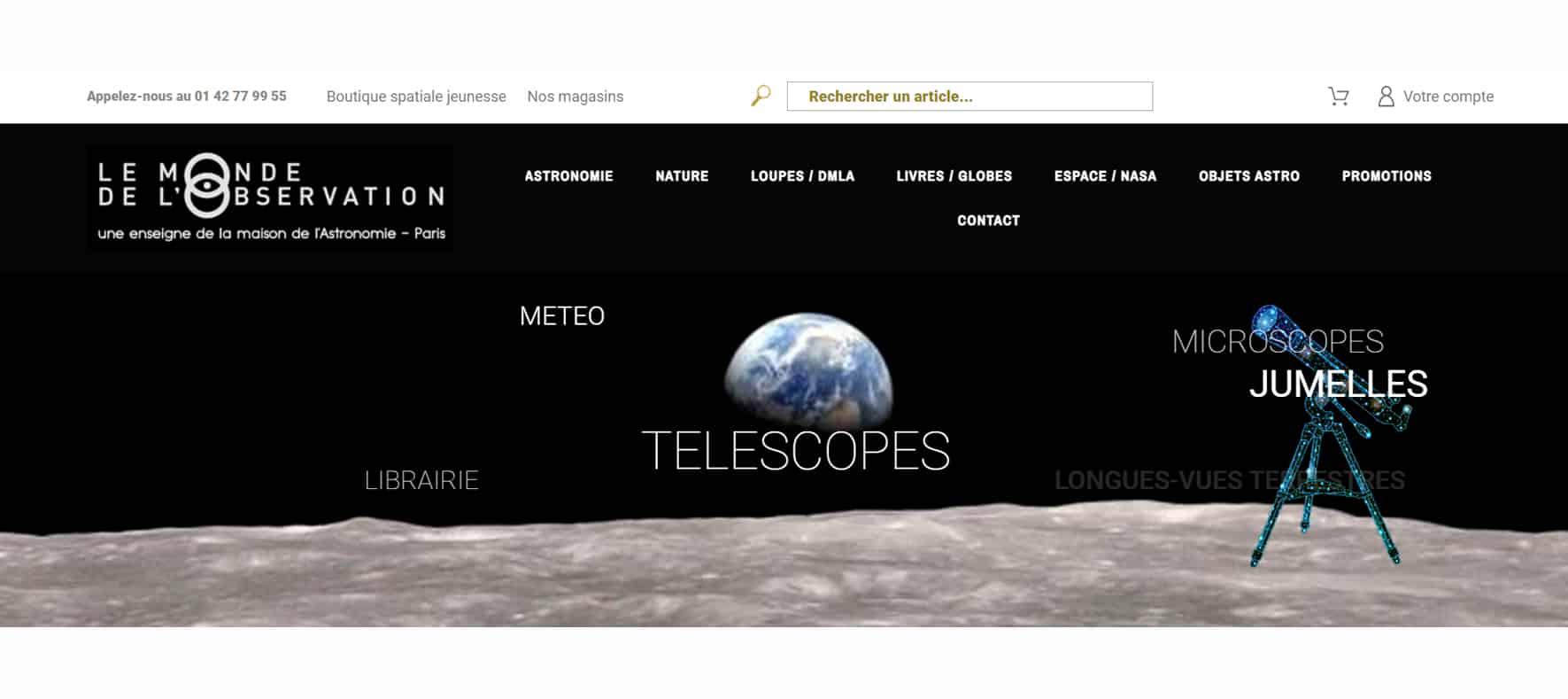 Bandeau pour la Maison De L'astronomie