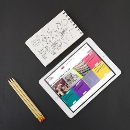 Site Internet pour Biennale Jeune Création