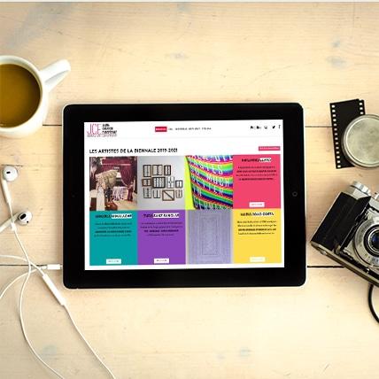 Site Web pour Biennale Jeune Création Européenne