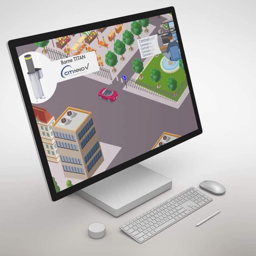 Visuel de la vidéo d'animation flat design pour Canal Câble