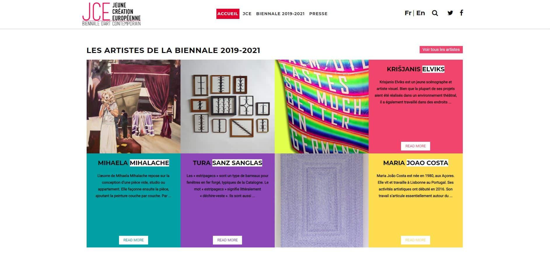 Création du Site Jeune Création Européenne
