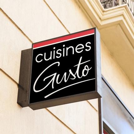 Cuisines Gusto Création Nouveau Logo