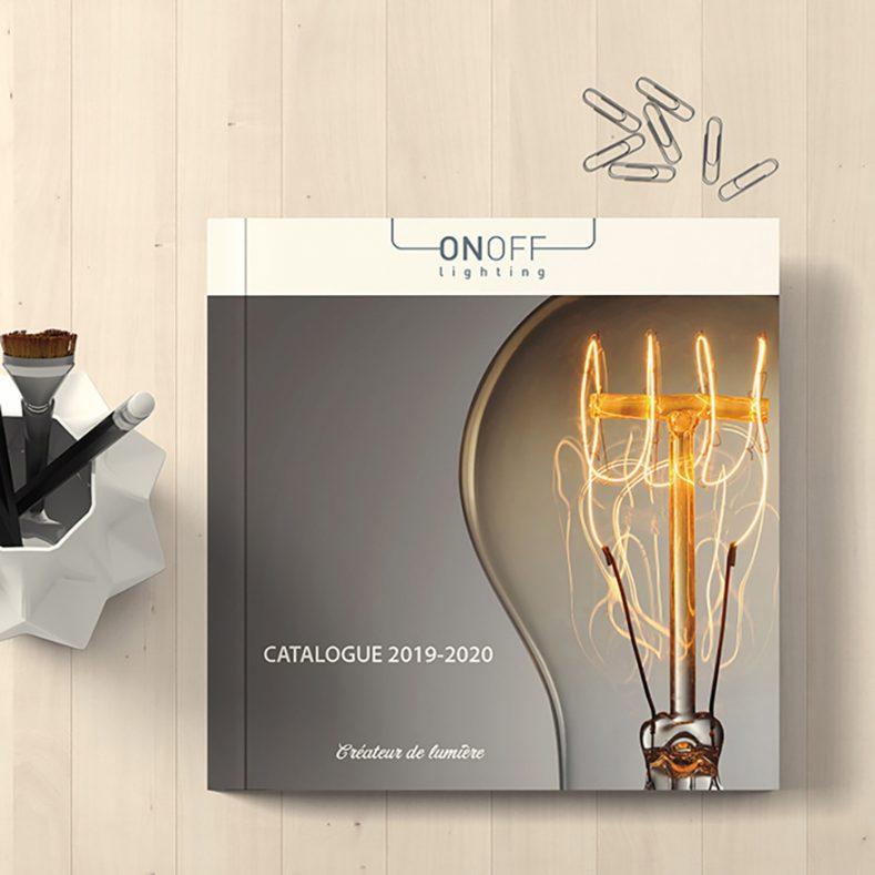 Conception du Catalogue d'On Off Lighting
