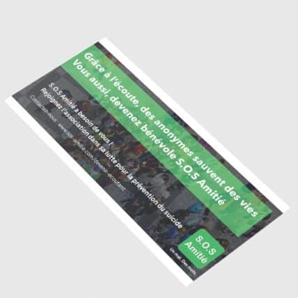 Flyer de recrutement pour SOS Amitié