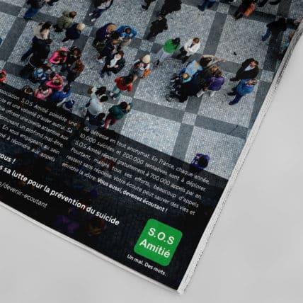 Affiche de Presse pour SOS Amitié