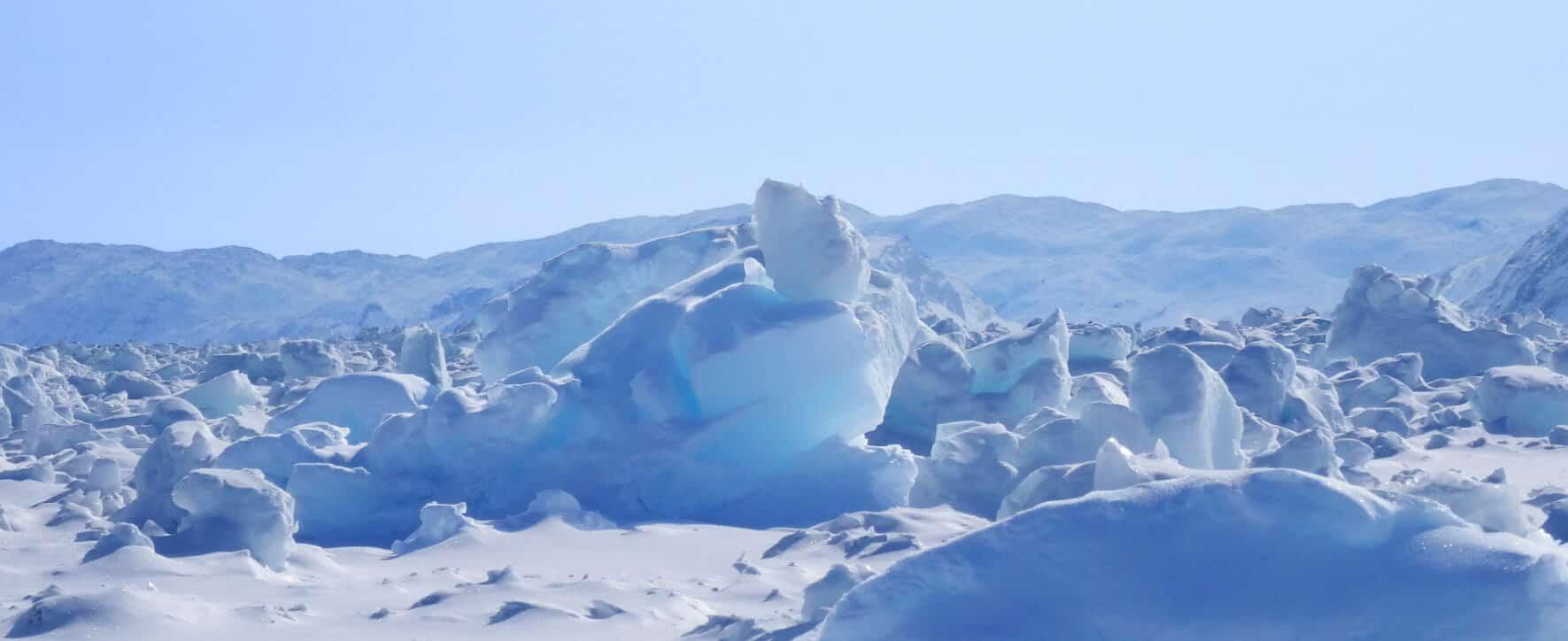 Image de glace sur la banquise
