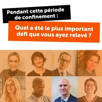 Flat Design des Témoignages pour Simplification Dématérialisation des Données Sociétés