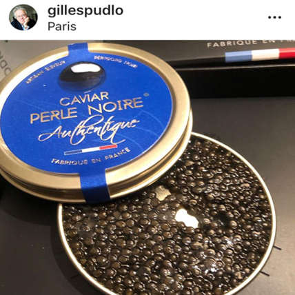 Caviar Perle Noire Réseaux Sociaux Gastronomie
