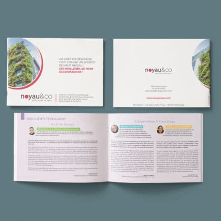 Plaquette informative print pour Noyau&co