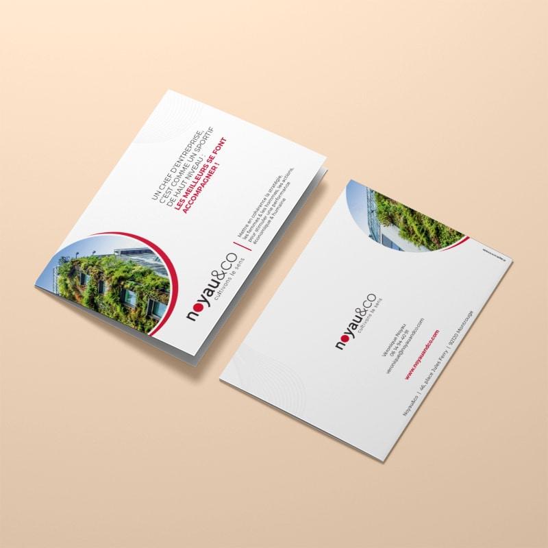Plaquette Création Print pour Noyau&co